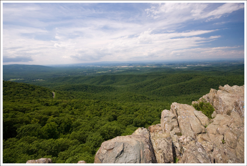 The summit of Humpback Rock.